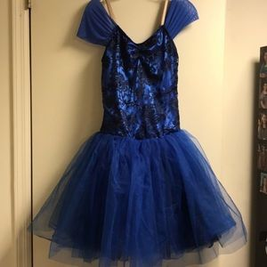 Dance Ballet Costume with Tulle Skirt